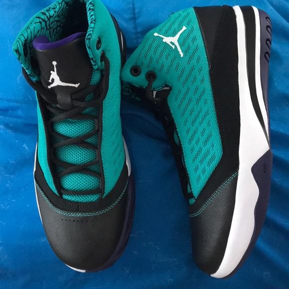 Black, Purple & Teal Jordans size 7y